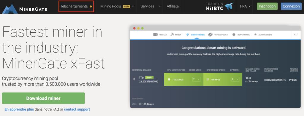 Télécharger l'application Minergate pour miner de l'Ethereum sur Mac